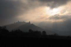 Tempête au-dessus du monastère mo.1 Photo stock