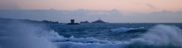 Tempête au Jersey Photographie stock libre de droits