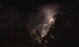 Tempête d'éclairage Photos stock