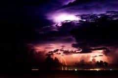 Tempête d'éclairage Image libre de droits