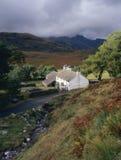 Tempête d'été, ferme de Blea, Cumbria Photographie stock