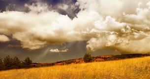 Tempête d'automne Photo stock