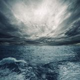 Tempête d'océan photos libres de droits