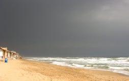 Tempête dans la plage Photos stock