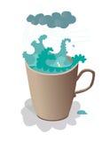 Tempête dans la tasse de thé Photo stock