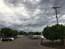 Tempête dans le ciel Photographie stock