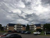 Tempête dans le ciel Photo libre de droits