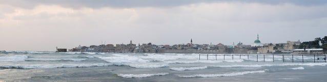 Tempête dans le compartiment de Haïfa Photos libres de droits