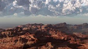 Tempête dans le désert rouge Photos stock