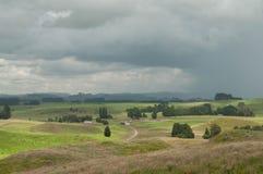 Tempête de attente La Nouvelle Zélande rurale photo libre de droits