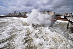 Tempête de Brighton Image libre de droits