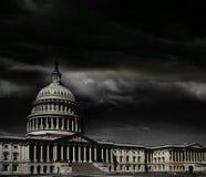 Tempête de capitol de Washington DC Images libres de droits