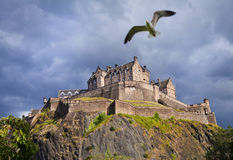 Tempête de château d'Edimbourg photos stock