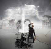 Tempête de crise d'affaires Images libres de droits