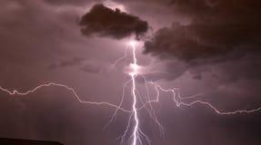 Tempête de foudre à Denver, le Colorado Image libre de droits