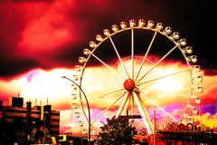Tempête de Hambourg Allemagne de parc photographie stock