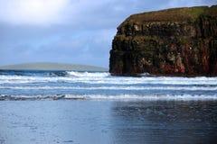 Tempête de l'hiver de plage de Ballybunion Photo libre de droits