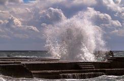 Tempête de mer photo stock