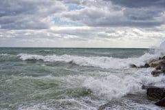 Tempête de mer Image stock