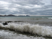 Tempête de mer Photos stock