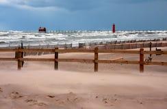 Tempête de Michigan de lac image libre de droits