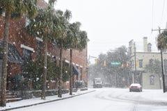 Tempête de neige 2018 à Charleston, Sc Photographie stock