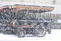 Tempête de neige 2018 à Charleston, Sc Images stock