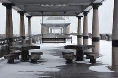 Tempête de neige 2018 à Charleston, Sc Image libre de droits