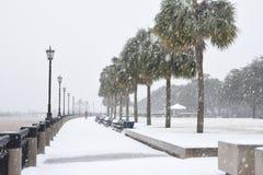 Tempête de neige 2018 à Charleston, Sc Image stock