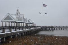 Tempête de neige 2018 à Charleston, Sc Images libres de droits