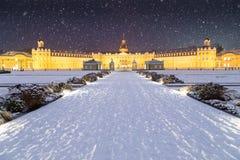 Tempête de neige à Karlsruhe photos stock