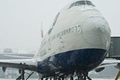 Tempête de neige à l'aéroport de Heathrow Image libre de droits