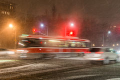 Tempête de neige à Toronto Image stock