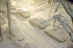 Tempête de neige photographie stock