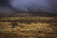 Tempête de neige approchant la vallée de Verde image libre de droits