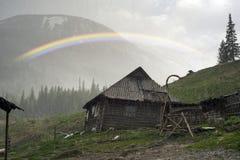 Tempête de neige Chernogora d'arc-en-ciel de ressort Photo libre de droits