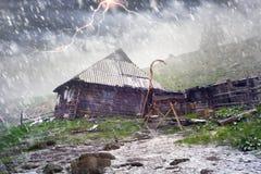 Tempête de neige Chernogora de ressort Photos libres de droits