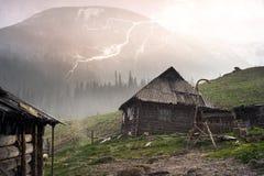 Tempête de neige Chernogora de ressort Images libres de droits