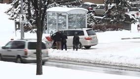 Tempête de neige d'hiver clips vidéos