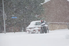 Tempête de neige de l'hiver images libres de droits
