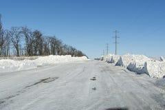 Tempête de neige de l'hiver Photographie stock