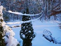 Tempête de neige de la Nouvelle Angleterre photo stock
