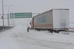 Tempête de neige de la Roumanie Image stock