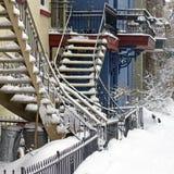 Tempête de neige de Montréal photo stock