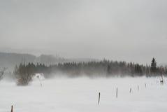 Tempête de neige en montagnes géantes polonaises Photos stock