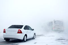 Tempête de neige lourde image stock