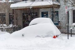Tempête de neige de Montréal en janvier 2018 Images libres de droits