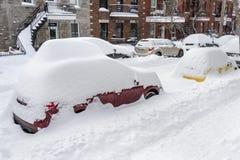 Tempête de neige de Montréal en janvier 2018 Images stock