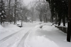 Tempête de neige suburbaine Image libre de droits