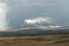 Tempête de neige sur l'Islande Images libres de droits